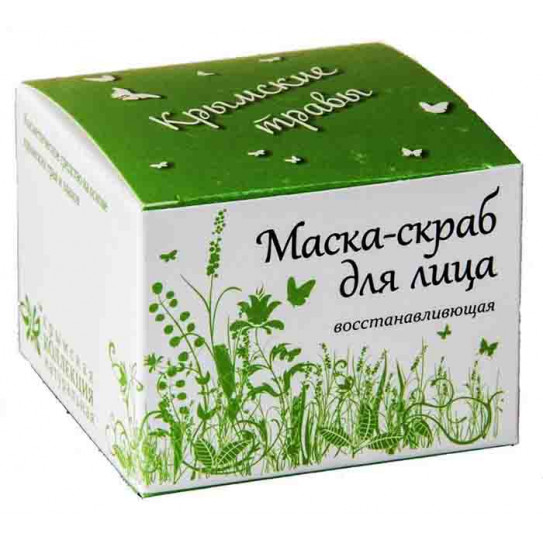 Маска-скраб для лица ,Крымские травы